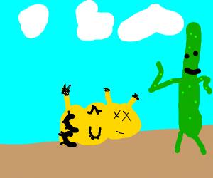 Pikachu dies of thirst