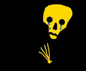 Toot skeleton lost his trumpet. :(