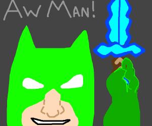 Green Batman With Diamond Sword