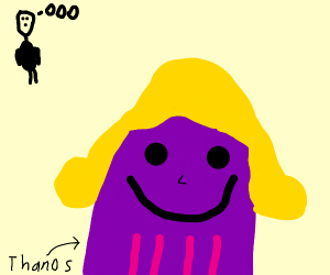 Thanos with beautiful blonde hair