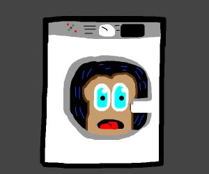 Washing toast in a washing machine