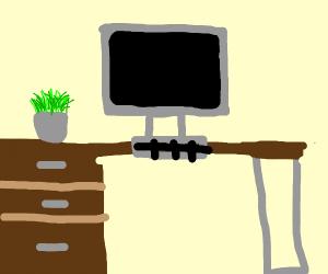 desk setup for work
