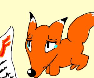 Fox gets F on test