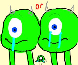 Mike Wazowski Crying :(