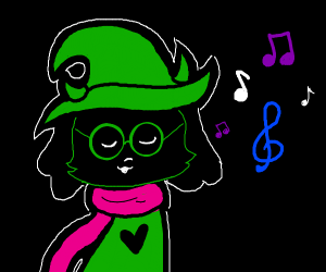 Ralsei (Deltarune) singing