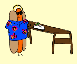 Guy Fieri as a hot doggo