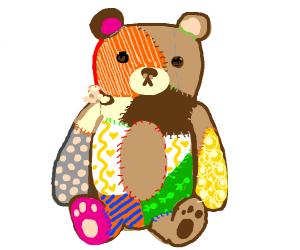 DIY bear with different fabrics