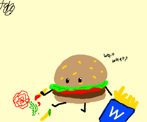 Burger Draws Rose like 1 of it's French Fries