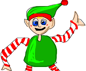 An elf with a bendy arm