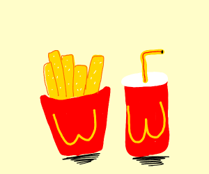 Fries and soda