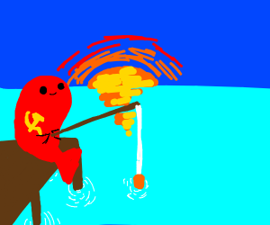 Communist fish is fishing