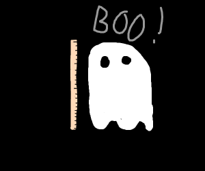 20 centimetre long white ghost says BOO!