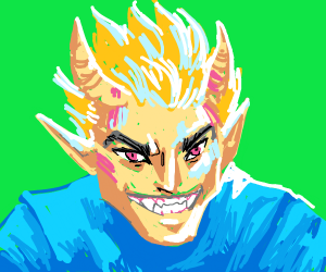 Elf with sharp teeth and horns