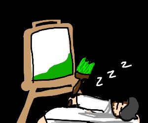 Painter Snoozing