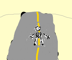 Ghoul crossing the Road