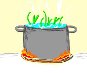 Boiling grass