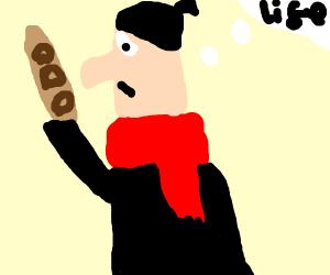 cliche france guy w/redScarf moustach bguette