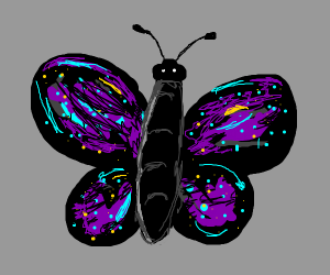 Butterfly with star wings