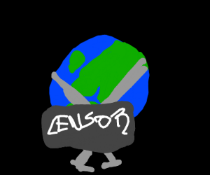 the earth but it's naked
