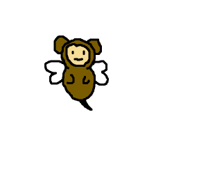 Bee and a monkey combined