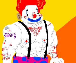 Strong clown.