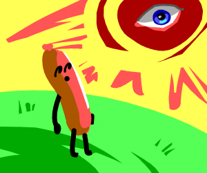 the all seeing eye looks down upon sausage ma