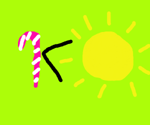 Candy cane doesn't equal the sun