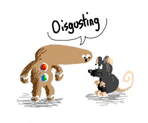 Gingerbread Man calls a rat distgusting