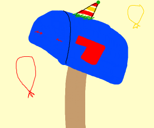Happy birthday mailbox