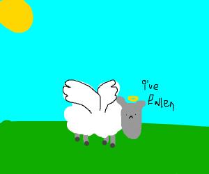 fallen sheep angel
