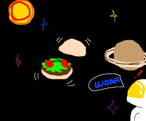 Food in the emptiness of space