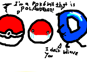 he can't believe the pokéball