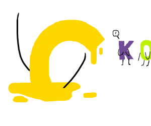 The letter c is getting melted