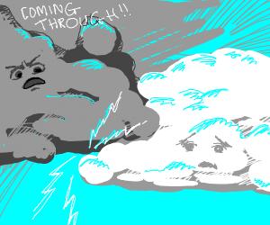 Cloud being rude