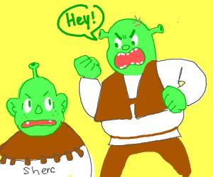 Shrek vs Bootleg Shrek