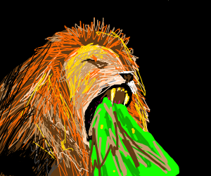 Barfing Lion