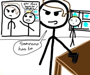 A stickfigure comic