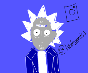 rick but his face is gray