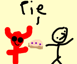 satan himself gives you pie