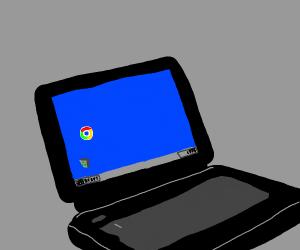 google chrome on a 1990's laptop