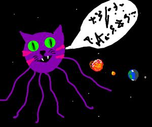 alien cat speaks in alien language