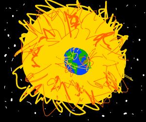 Sun Destroys Earth
