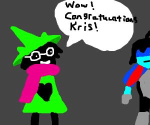 Wizard congratulates guy named Kris