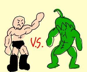 wrestler VS buff jalapeño
