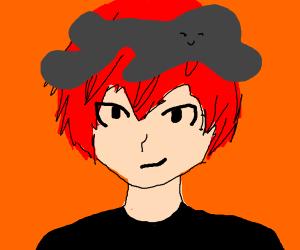 Anime guy with creepy grey blob on head