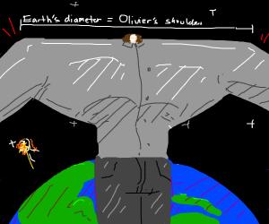 Oliver has even larger shoulders now...