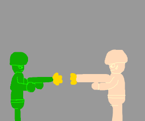 The battle of toy soldiers
