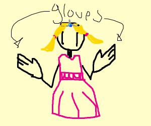 princess wearing gloves