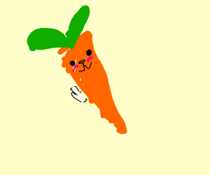 Bunny made of carrot