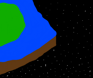 The edge of the flat, square Earth